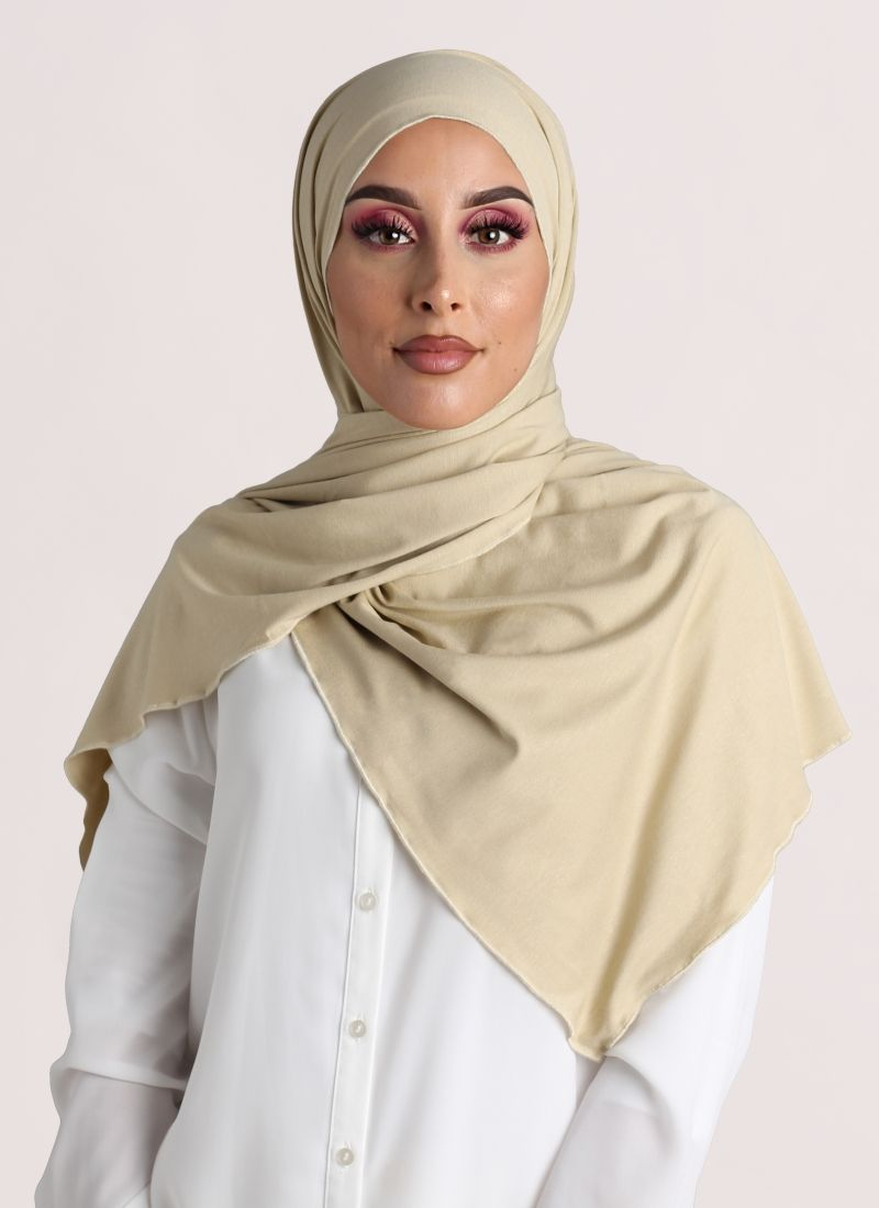 hijab jersey color beige claro