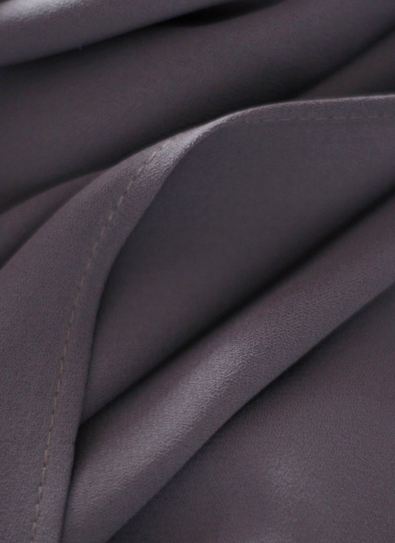 hijab color gris oscuro